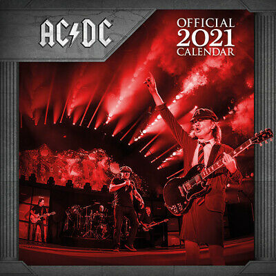 AC/DC 2021 Calendar 30cm X 30cm *OFFICIAL PRODUCT, NEW & SEALED* • 9.45£