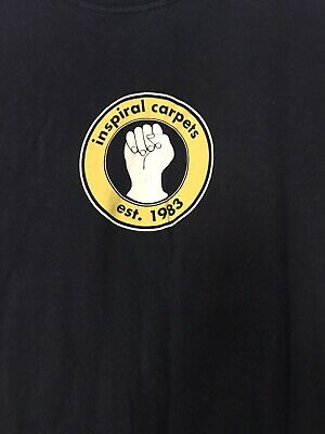 Vintage INSPIRAL CARPETS Manchester Ritz Tour T-shirt Large With Backprint • 14£