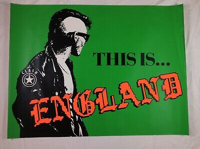 Vintage 1985 The Clash 'This Is England' Green Promo Quad Poster • 434.99£