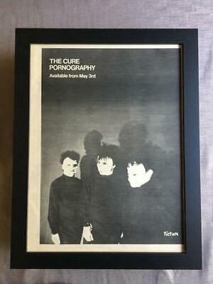 The Cure Pornography 1982 Framed Advert / Ad  18  X 14  • 55£