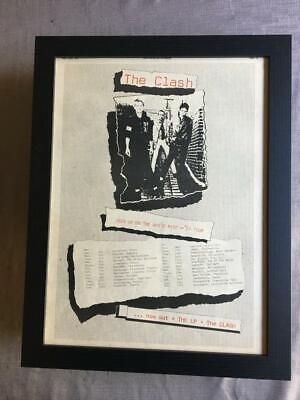 The Clash Debut Album / White Riot  UK Tour 1977 Framed Advert / Ad  18  X 14  • 60£