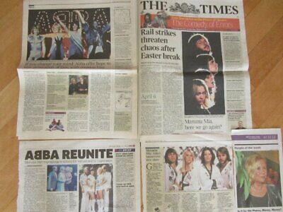 ABBA Clippings /cuttings UK Newspapers INTERVIEW • 12.99£