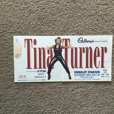 Tina Turner  Ticket Wembley Stadium 20/07/96 #172 • 6£