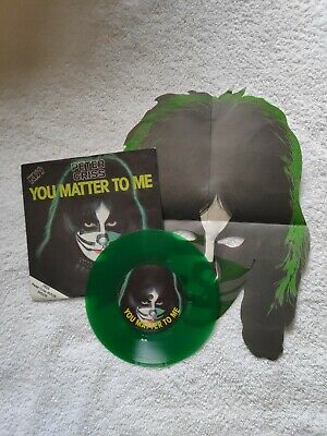 Peter Criss - You Matter To Me - UK 7in Green Vinyl Single With Mask - CAN 139 • 35£