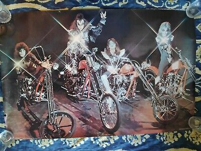 Kiss On Bikes Poster - 37.5in X 24in - Original UK Pace International 1978 • 37£