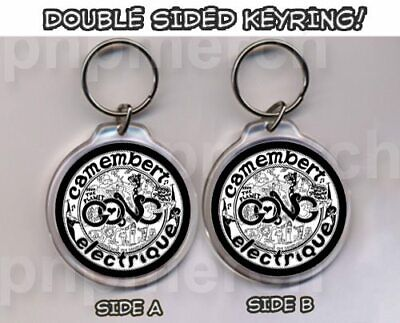GONG Camembert Electrique REPRO ROUND KEYRING - DOUBLE SIDED- CLASSIC! • 1.25£