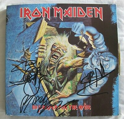 Iron Maiden - No Prayer For The Dying Uk Promo Box Set - Signed - Good Condition • 475£