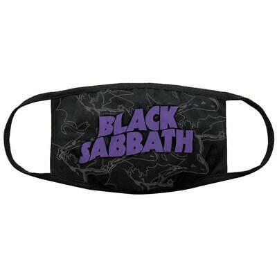 Official Licensed - Black Sabbath - Wavy Logo Distressed Face Mask Ozzy Metal • 11.99£