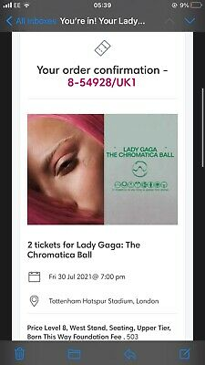 2 Tickets For Lady Gaga: The Chromatica Ball • 150£