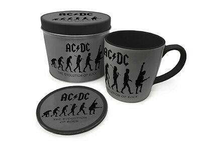 AC/DC - The Evolution Of Rock - Mug And Coaster In Tin Official Gift Set GP85528 • 9.99£