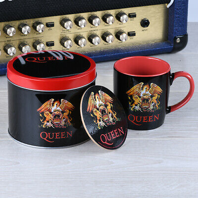 Queen - Logo - Mug And Coaster In Tin Official Gift Set GP85476 • 9.99£