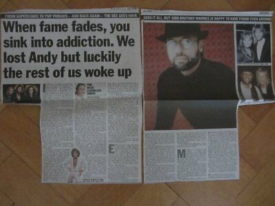 BEE GEES MAURICE GIBB INTERVIEW  Clippings / Cuttings UK Newspaper 2001 ANDY • 34.99£