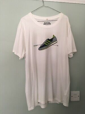 New Order Your Silent Face Social Recluse T-Shirt - Size Large - Adidas Graphic • 5£