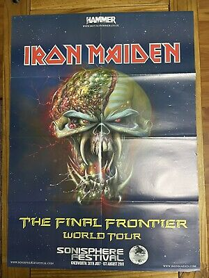 Iron Maiden & Slipknot Double Sided Poster. Metal Hammer. 760 X 560mm. • 2.49£