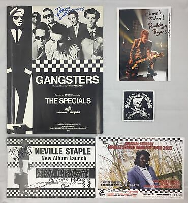 Signed Job Lot Of Items From Members Of The Specials - Dammers, Byers, Staple • 0.99£