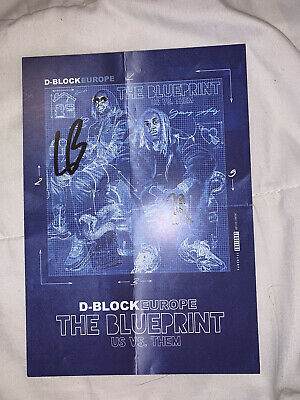 D Block Europe 'The Blueprint Us Vs Them' Large Card Signed By DBE Young Adz, LB • 40£