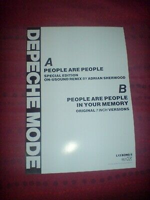 Depeche Mode  People Are People  Limited Edition 12  17 X 11 Promo Poster • 7.99£