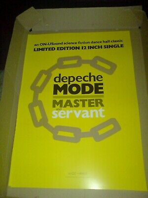 Depeche Mode  Master And Servant  Limited Edition 12  17 X 11 Promo Poster • 7.99£