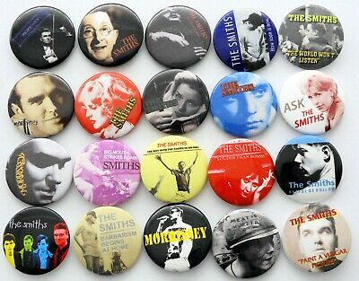 THE SMITHS AND MORRISSEY BUTTON BADGES 20 X New Smiths Pin Badges • 7.67£