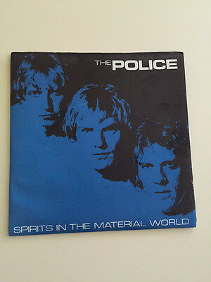 THE POLICE Spirits In The Material World Poster Sleeve &  Pic Cover UK 7  Vinyl  • 7.99£