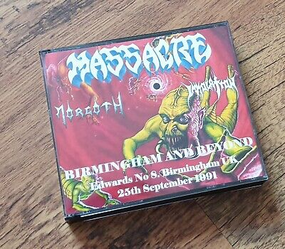 Massacre Immolation Morgoth CD - DVD Set From Beyond Tour 1991 Birmingham • 25£