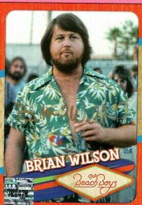 Beach Boys Brian Wilson And Mike Love Hand Signed Cards • 88.89£