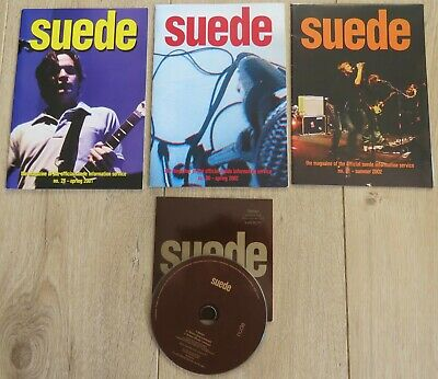 Suede 3x Fanzines & Exclusive Track CD (from Suede Information Service) • 5£