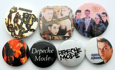 DEPECHE MODE AND DAVE GAHAN BADGES 7 X Vintage Depeche Mode Pin Badges  • 2.95£
