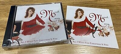 Mariah Carey SIGNED All I Want For Christmas Is You CD Album Brand New Sealed • 29.99£