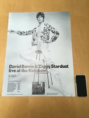 David Bowie Ziggy Stardust And The Spiders From Mars REPRO TOUR POSTER 1972  • 40£