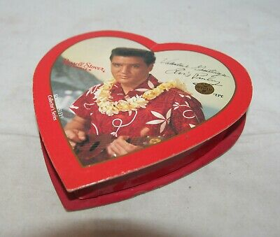 Vintage Elvis Valentine Russell Stover Heart Shaped Empty Card Box - FREE UK P&P • 9.99£