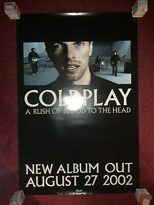 Rare COLDPLAY A Rush Of Blood To The Head 24x36 Promo Poster Chris Martin 2002 • 22.08£