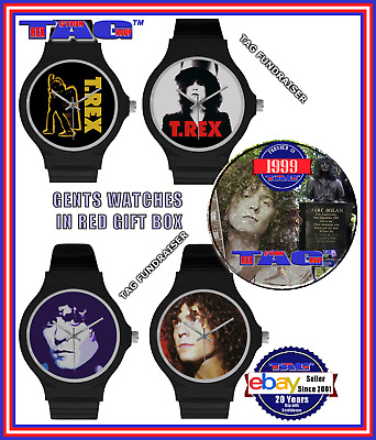 T.rex - Ladies & Gents Watches In Gift Boxes - A Marc Bolan Memorial Fundraiser • 13.99£