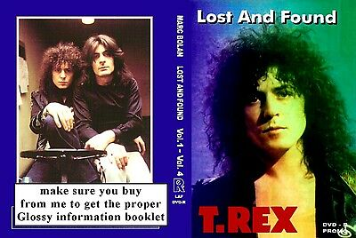Marc Bolan & T.rex Lost & Found 4 Dvd Set Donated For Memorial Fund Raising :-) • 17.99£
