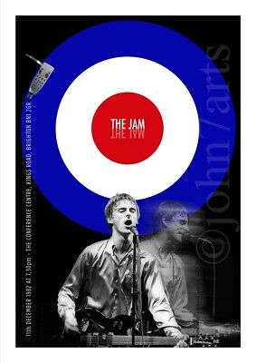 The Jam Paul Weller Poster SPECIAL CLEARANCE PRICE Brighton 1982 - A2 Print Size • 10£