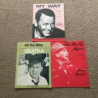 Frank Sinatra 3 X Original Sheet Music My Way, Let Me Try Again, All The Way • 10£