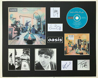 OASIS - Signed Autographed - DEFINITELY MAYBE - Album Display Deluxe • 30£