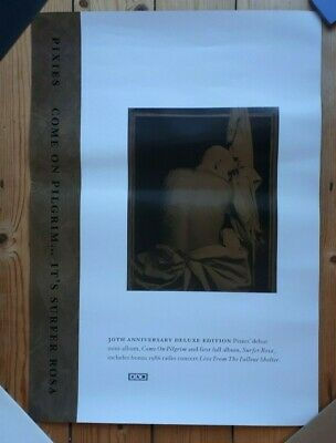 Pixies Come On Pilgrim Surfer Rosa 30th Anniversary Official Promo Poster 4AD • 12£