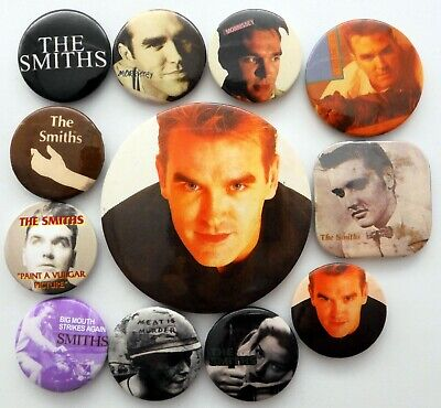THE SMITHS AND MORRISSEY BUTTON BADGES 12 X Vintage And Newer Pin Badges • 3.95£