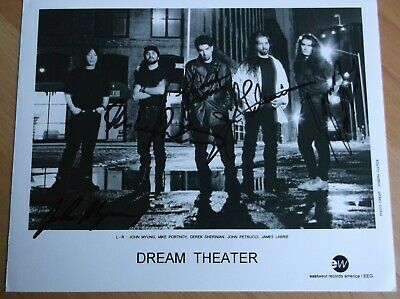 Dream Theater Signed Promo From Between 1995-99 Photo • 45£