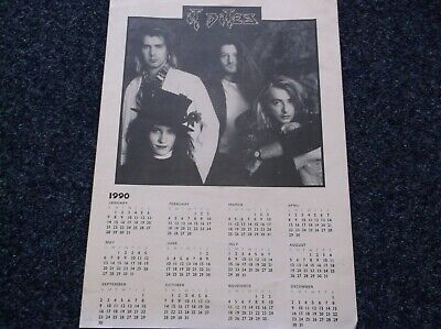 It Bites Fan Club A4 Calendar 1990 • 3£