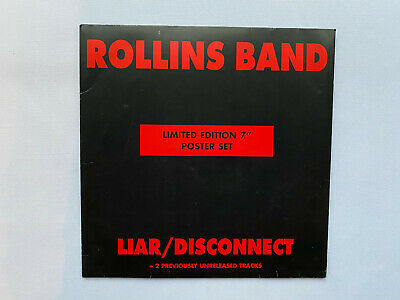 Rollins Band – Liar / Disconnect ... 7  Vinyl Poster Pack Single Unplayed Vinyl • 29.99£