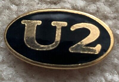U2 Black And Gold Enamel Oval Button/badge/pin  • 2.91£