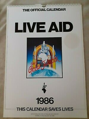 Vintage Live Aid Official Calendar From 1986 Mint Condition • 19.99£