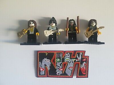 Kiss Rock Band Figures And Kiss Patch • 12.99£