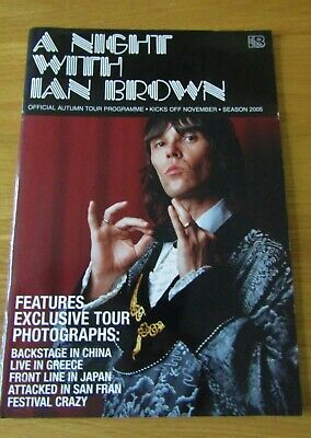 Ex Con Ian Brown 2005 Tour Programme Stone Roses, Indie, Brit Pop.  • 2£
