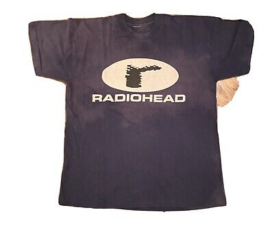 1995 Radiohead Band Official The Bends Tour T Shirt Large. Blue Tie Dye • 8.05£