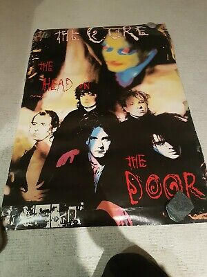 The Cure The Head On The Door Vintage Poster - Rare Bought 1986 Aged Edges • 50£