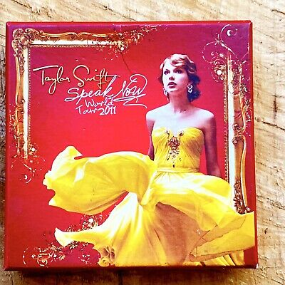 Taylor Swift Speak Now 2011 World Tour Collectible Pin Set Badge Lapel Set Of 4 • 62.03£