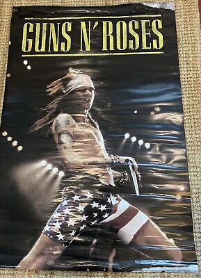 Guns N' Roses Poster GNR Axl Rose  90cm X 60cm  Hard Rock,Approx 15 Approx Old • 1.99£
